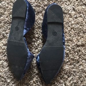 a new day Shoes - Indigo Velour Flats